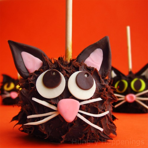 Black Cat Caramel Apples, Halloween recipe