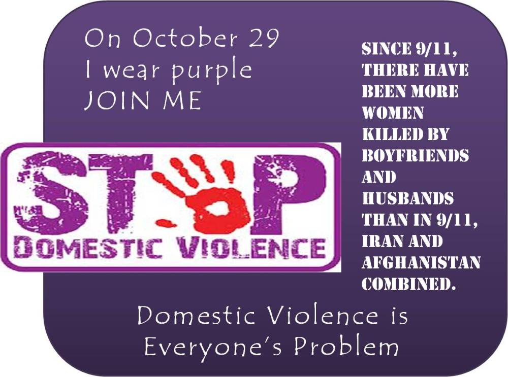 Domestic Violence Awareness month (4/4)