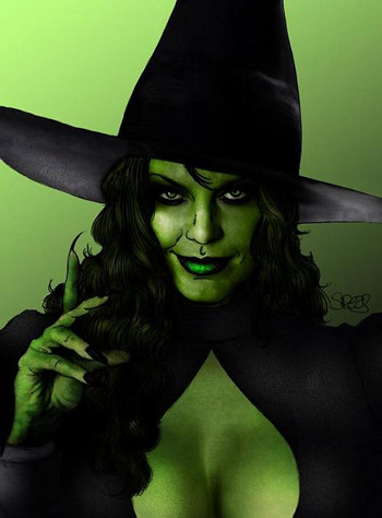 Sexy-Green-Witch-Web