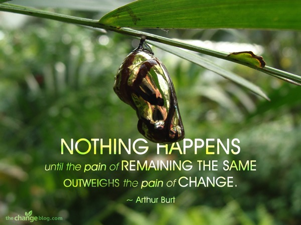 Arthur Burt Quote Pain of Change