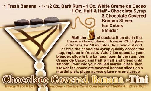 Chocolate Covered Banana Martini