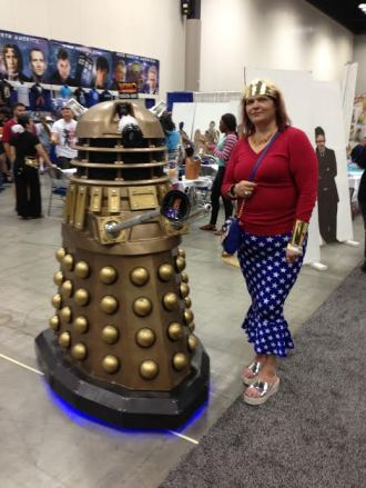 Me and my friend, Gold Dalek. lol