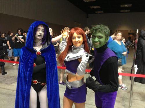 Raven, Starfire and Beast Boy