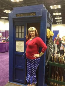 Hubs took a candid I hadn't been prepared for. lol at least it's with the TARDIS!