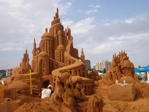 sand-sculpture-the-little-mermaid