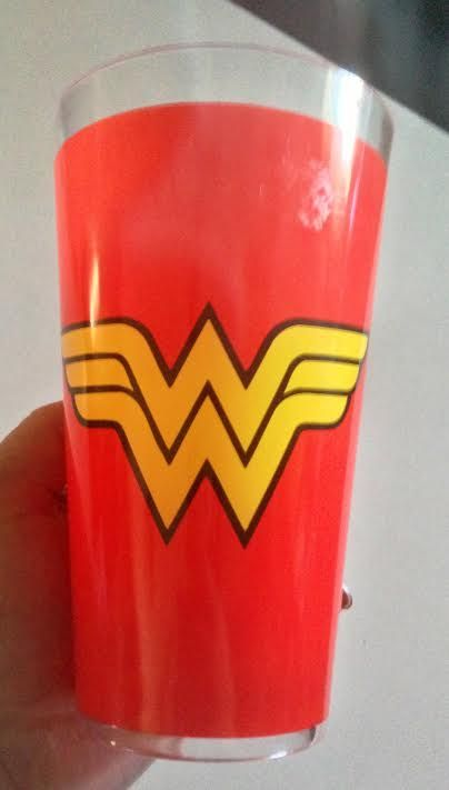 wonder woman glass