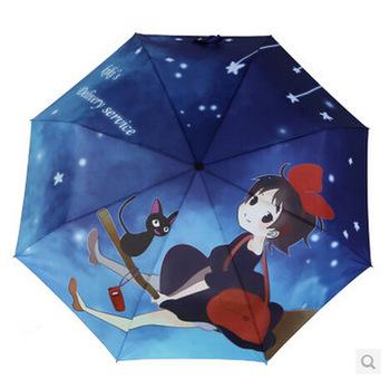 2014-hayao-miyazaki-umbrella-majo-no-takkyubin-folding-painting-umbrella-kiki-ghibli-black-cat-parasol-umbrella-freeshipping_284445